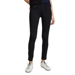 rag & bone black plush legging skinny jeans